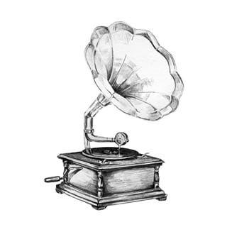 gramophoned